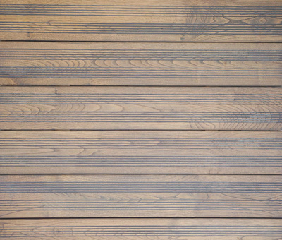 French Chestnut Decking Grey with grooves