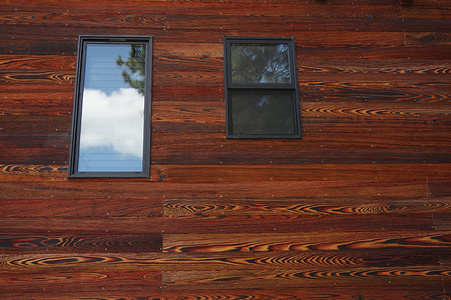cypress with cherry stain